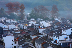 Chinese village in dawn Stock Image
