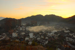 Chinese village in dawn Stock Photo