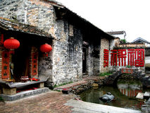 Chinese village    dwellings Royalty Free Stock Photo
