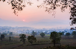 Chinese village morning Royalty Free Stock Image