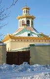 The Chinese Village in Pushkin. Some buildings of the Chinese Village in the Alexander's park, Pushkin (Tsarskoye Selo) town - Saint Petersburg's suburb, Russia Stock Image