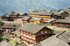 Chinese village rooftops Stock Photos