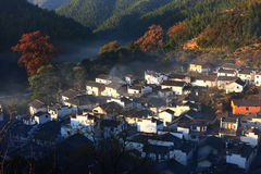 Chinese village in sunlight Royalty Free Stock Photos