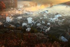 Chinese village sunrise Stock Images