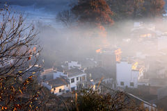 Chinese village in sunrise Stock Image