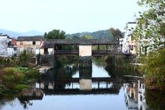 Chinese village XiCun,Wuyuan Stock Images