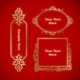 Chinese vintage elements banner Royalty Free Stock Photography