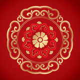 Chinese Vintage Elements on classic red background Royalty Free Stock Photo