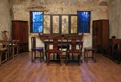 Chinese vintage study room display show in Lhong 1919 Bangkok royalty free stock image