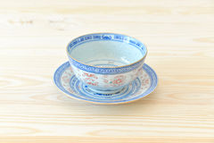 Chinese vintage style blue and white dishes Royalty Free Stock Photos