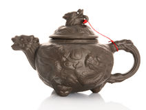 Chinese vintage teapot Royalty Free Stock Images