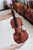 Chinese violin craftsmanship Stock Photography