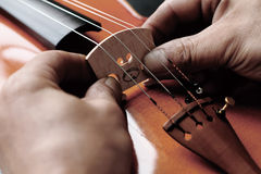 Chinese violin craftsmanship Stock Photo