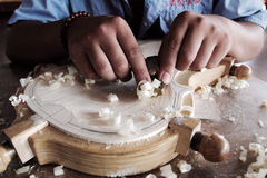Chinese violin craftsmanship Stock Photos