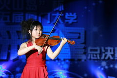 A Chinese Violinist Royalty Free Stock Images