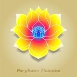 Chinese virtual po-phase flowers stock image