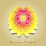 Chinese virtual po-phase flowers royalty free stock photo