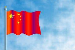 Chinese Vlag Stock Fotografie