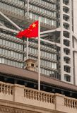Chinese vlag in honk kong Royalty-vrije Stock Afbeelding