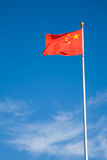 Chinese vlag Peking China stock foto's