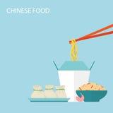 Chinese Voedselachtergrond Stock Afbeeldingen