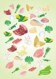 Chinese voedselingrediënten Stock Foto's