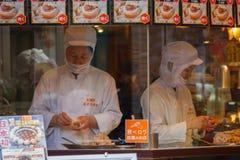 Chinese voedselverkoper bij Yokohama-Chinatown Royalty-vrije Stock Afbeeldingen
