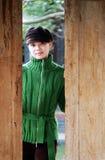 Chinese vrouwen en deur Stock Fotografie