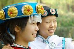 Chinese vrouwen Naxi stock fotografie