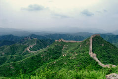 Chinese wall. View over a part of the Chinese wall Royalty Free Stock Photography