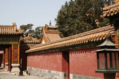 Chinese Wall. A Chinese wall lining a path Stock Images