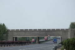 Chinese Wall cross highway from Shenyang to Stock Photography