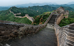 Chinese wall. The great wall in China Royalty Free Stock Photography