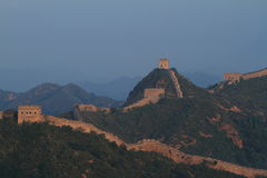 The Chinese Wall at Jinshanling with Sunrise Royalty Free Stock Image