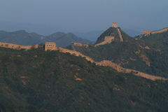 The Chinese Wall at Jinshanling with Sunrise Stock Photos