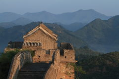 The Chinese Wall at Jinshanling with Sunrise Stock Photo