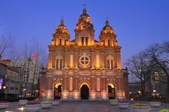 Chinese Wangfujing church , Beijing,China stock photos