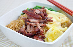 Chinese Wanton Noodles Royalty Free Stock Images