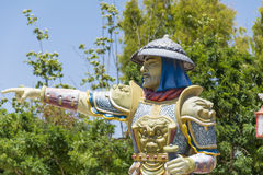 Chinese warrior  sculpture Stock Images