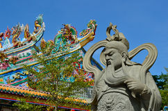 The Chinese Warrior Statue Stock Photography