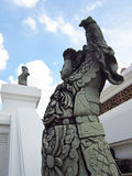 Chinese warrior statue on outdoor Royalty Free Stock Photography