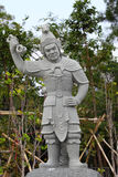 Chinese warrior statue Royalty Free Stock Images