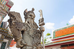 Chinese Warrior Statue In The Wat Pho Stock Photography