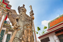Chinese Warrior Statue In The Wat Pho Royalty Free Stock Images