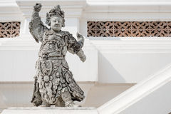 Chinese warrior statues in Thailand. But the Chinese warrior statues stood the test of time Stock Photography