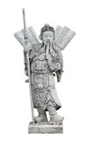 Chinese warrior stone sculpture, Isolated Royalty Free Stock Images