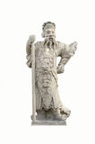 Chinese warrior stone statue Stock Photography