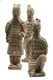 Chinese Warriors. Statues of Chinese Warriors on a white Stock Photo