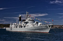 Chinese warship in Sydney Stock Images