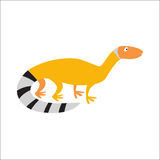 Chinese water dragon lizard vector illustration. Stock Photography